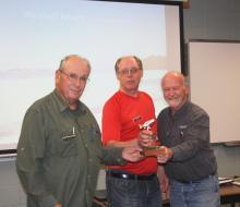 Sinc Dalgleish, Len Piggin, Terry Garbutt Fly of the month award.