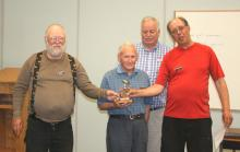 Fly of the month award to Steve Pushak, Stan Ashbee for assisting with driving Alf Spencer to monthly meetings.