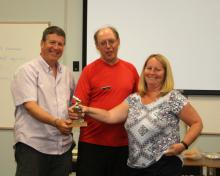 Fly of the month award to John & Sharlene Bowers for bringing a new fisherperson into the fold as Grandparents.