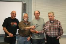 Tony with his rod and Mike and Richard as master rod builders and teachers.