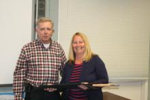 Richard gave the fly-rod to the winner, Sharlene Bowers, Congratulations!