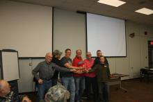 Fly of the month to Retiring Executive & Directors in attendance at Monthly Meeting.