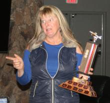 Tracy with biggest Steelhead  trophy